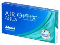 ALCON Air Optix Aqua 6 čoček, Počet dioptrií: -0,50, Počet kusů v balení: 6 ks, Průměr: 14,2, Zakřivení: 8,6