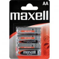 MAXELL R6 4BP AA Zn tužkové baterie 4 ks