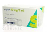 DEGAN 10 MG ROZTOK PRO INJEKCI  50X2ML/10MG Injekční roztok
