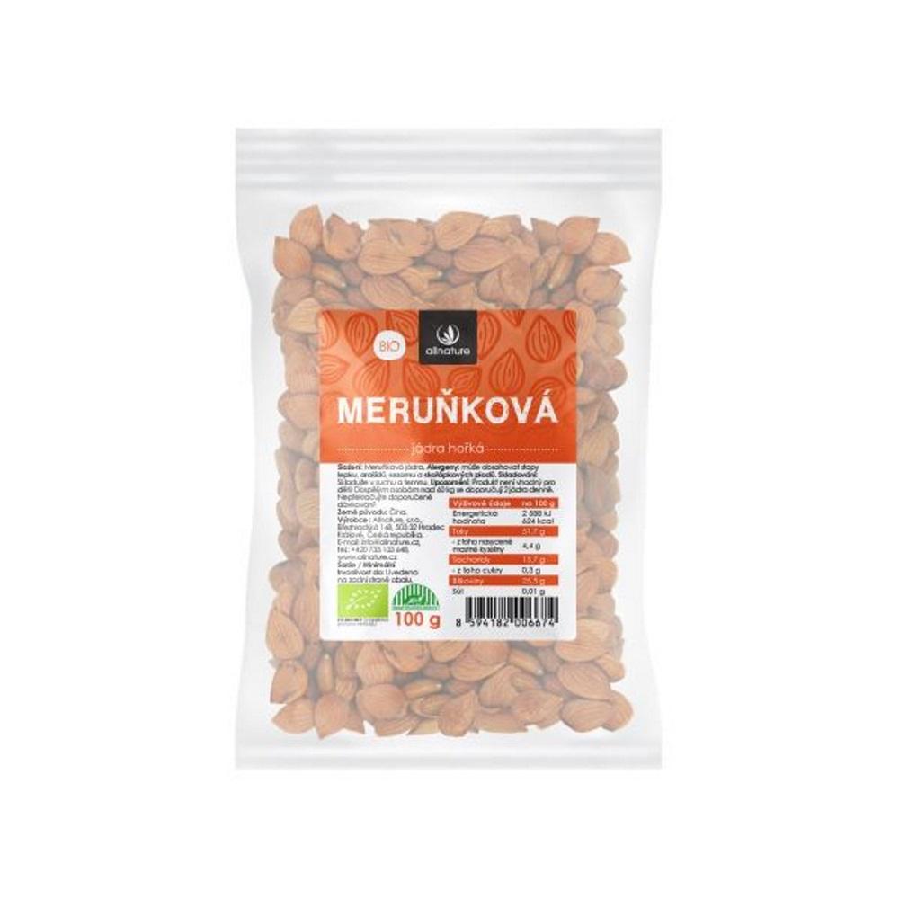 Allnature Meruňková jádra hořká Bio 100 g