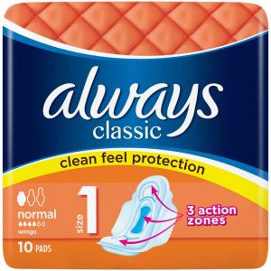 ALWAYS Classic Normal Hygienické vložky s křidélky 10 ks