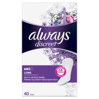 ALWAYS Discreet Inkontinenční intimní vložky Long 40 ks