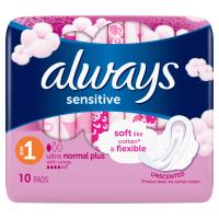 ALWAYS Ultra Sensitiv Norma vel.1 Hygienické vložky s křidélky 10 ks