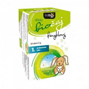 BABIO Dětský fenyklový čaj BIO 20x1,5 g sáčků