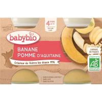BABYBIO Jablko s banánem 2x130 g