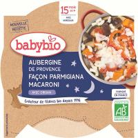 BABYBIO Večerní menu Lilek na způsob Parmigiana s makarony 260 g
