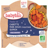 BABYBIO Večerní menu Mrkev a sladká kukuřice s quinoa 230 g