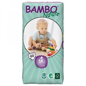 BAMBO Nature 4 Maxi plenkové kalhotky 7-18kg 60 kusů