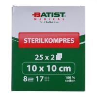 BATIST Sterilkompres Gáza sterilní 10x10 cm 25 kusů