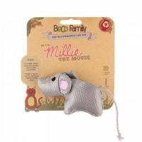 BECO Family Myška Millie hračka pro kočky s šantou kočičí