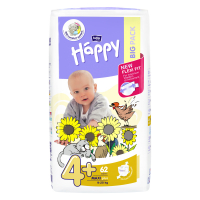 Happy Maxi plus big pack dětské pleny 9 - 20 kg 62 ks