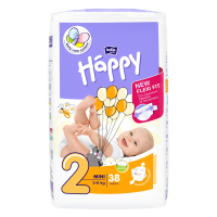 HAPPY Mini Dětské pleny 3-6 kg 38 ks