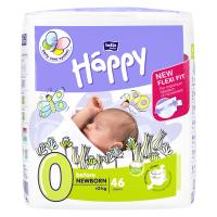 HAPPY Before NewBorn Dětské pleny 0-2kg 46 ks