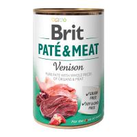 Brit PATÉ & MEAT Venison konzerva pro psy 400 g