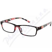 AMERICAN WAY brýle čtecí +2.00 černo-květinové