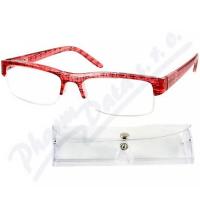 AMERICAN WAY brýle čtecí +2.00 červeno-černé s pouzdrem