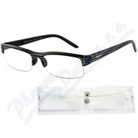 AMERICAN WAY brýle čtecí +3.00 černé s pruhy a pouzdrem