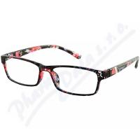 AMERICAN WAY brýle čtecí +3.50 černo-květinové