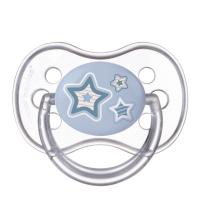 CANPOL BABIES Dudlík silikonový symetrický NEWBORN BABY 6-18m  modrý