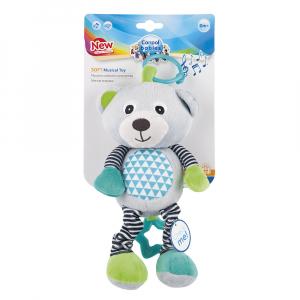 CANPOL BABIES plyšová hračka se zvuky MEDVÍDCI šedá