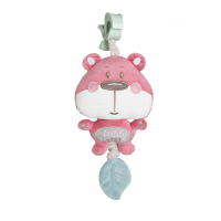 CANPOL BABIES Plyšová hrací skříňka PASTEL FRIENDS růžový medvídek