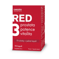 CEMIO RED3 Prostata, vitalita, potence 90 kapslí