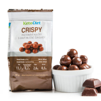 KETODIET Crispy proteinové kuličky v mléčné čokoládě 46 g