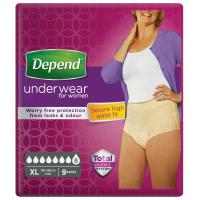 DEPEND Super natahovací kalhotky pro ženy s vyšším pasem XL 9 kusů