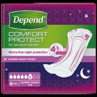 DEPEND Super plus inkontinenční vložky 6 kapek  6 kusů