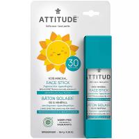 ATTITUDE dětská 100% minerální ochranná tyčinka na obličej a rty SPF 30 bez vůně 18 g