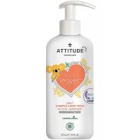 ATTITUDE Baby leaves dětské tělové mýdlo a šampon 2 v 1 s vůní hruškové šťávy 473 ml