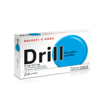 DRILL Bez cukru 24 pastilek rozpustných v ústech
