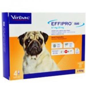 VIRBAC Effipro DUO Dog S (2-10 kg) 67/20 mg, 4x0,67 ml