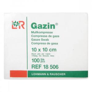 GAZIN Gáza hydrofilní skládaná 10 x 10 cm / 100 ks 8 vrstvá