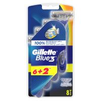 GILLETTE Blue3 Jednorázový holící strojek 6 + 2 ks