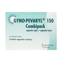 GYNO-PEVARYL 150 Combipack čípky 3 kusy + krém 15 g