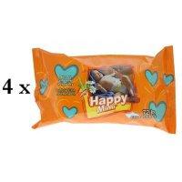 HAPPY MIMI Dětské vlhčené ubrousky 4x72 kusů
