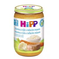 HiPP BIO Zelenina s rýží a telecím masem 220 g