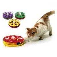 KARLIE Hračka pro kočky Talíř s míčkem 24 cm 1 ks