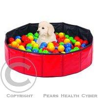 Hračka pes Míče barevné kondiční do bazénu 250ks