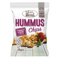 EAT REAL Hummus Chips rajče a bazalka 45 g BEZ lepku