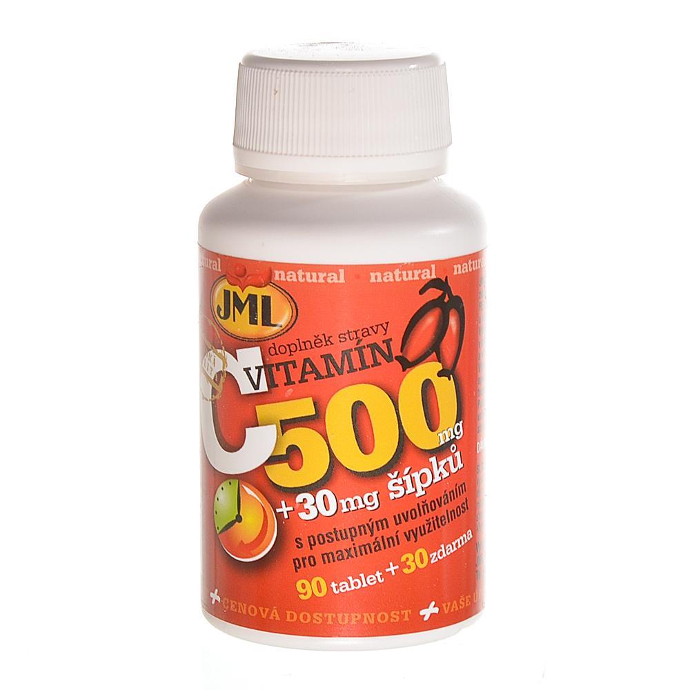 JML Vitamin C 500 mg s postupným uvolňováním se šípky 120 tablet
