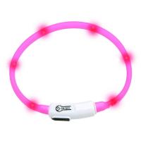 KARLIE FLAMINGO Obojek USB Visio Light 35 cm růžový KAR
