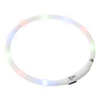 KARLIE FLAMINGO Obojek USB Visio Light 70 cm bílý KAR
