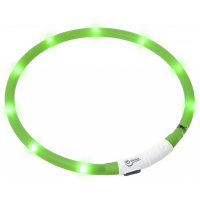 KARLIE FLAMINGO Obojek USB Visio Light 70 cm zelený KAR