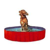 KARLIE FLAMINGO Skládací bazén pro psy modro-červený 80x20 cm