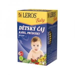 LEROS BABY Dětský čaj kašel, průdušky 20 sáčků