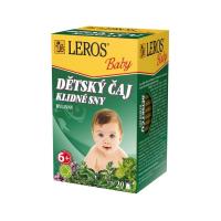 LEROS BABY Dětský čaj Klidné sny 20 sáčků