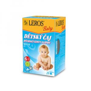 LEROS BABY Dětský čaj na dýchací cesty s lípou 20 sáčků