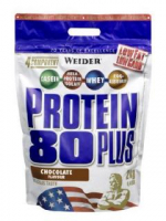 WEIDER Protein 80 Plus Lískový ořech - Nugát 2000 g